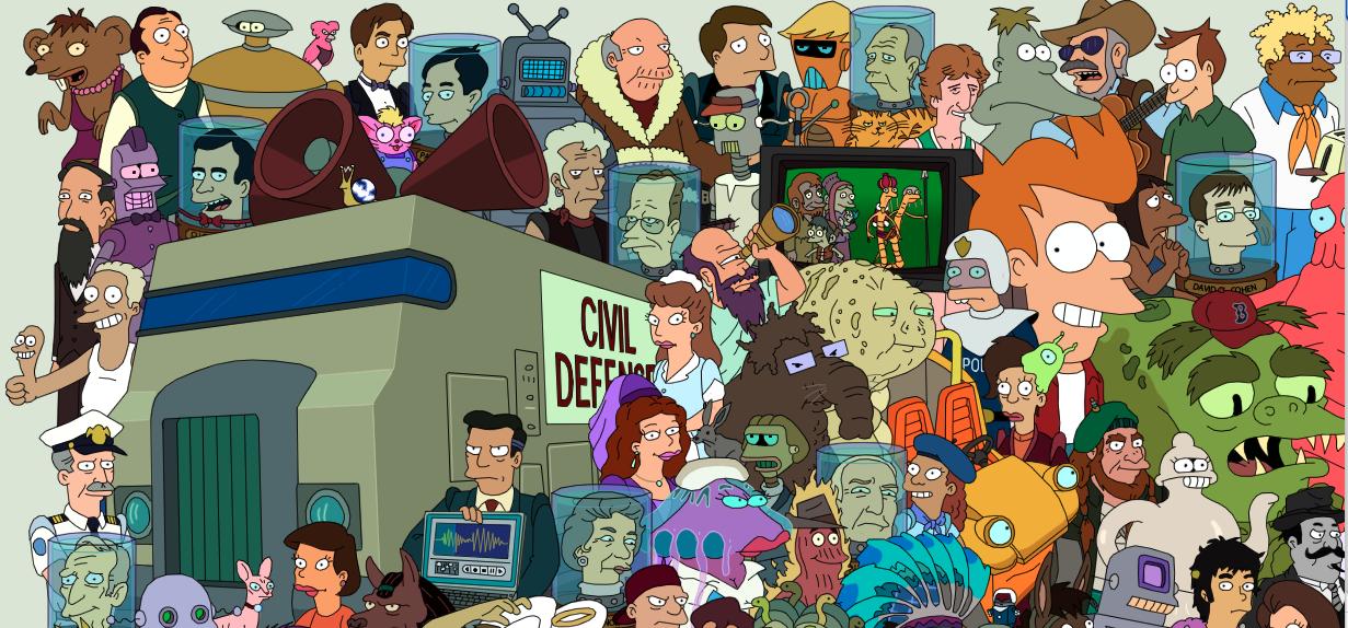 Futurama Entire Cast Poster The Coolector