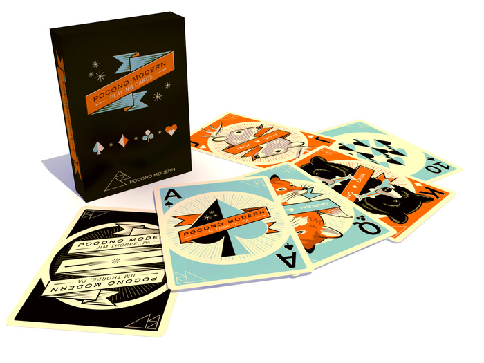 Pocono Modern Playing Cards The Coolector