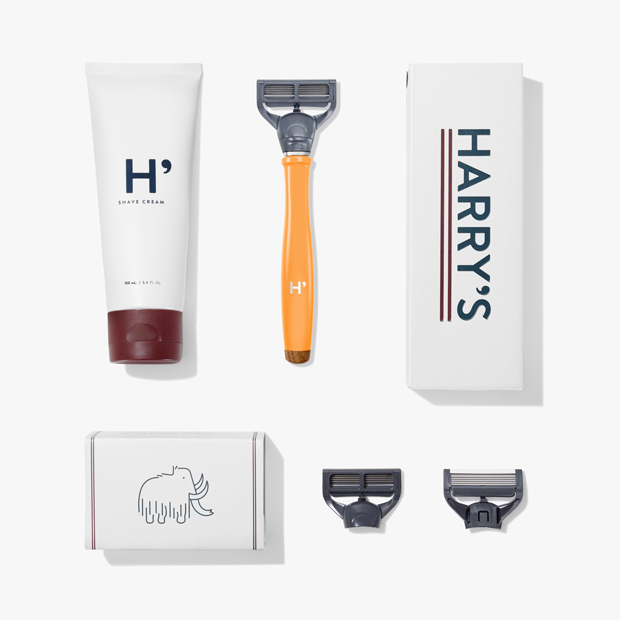 orange harrys shaver