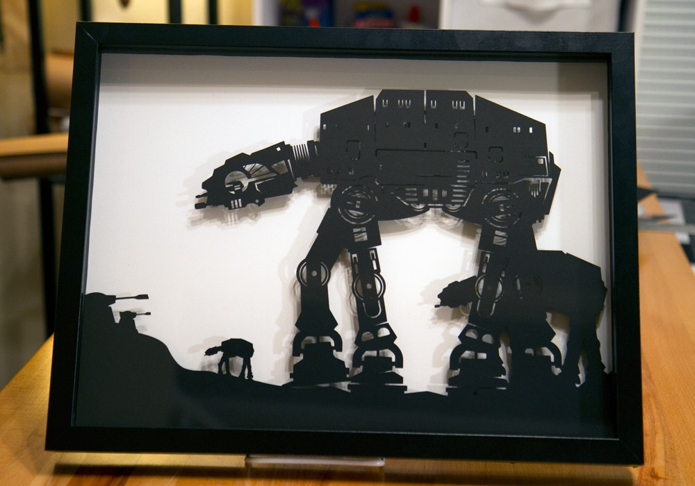 Star Wars AT AT Walker Silhouette The Coolector