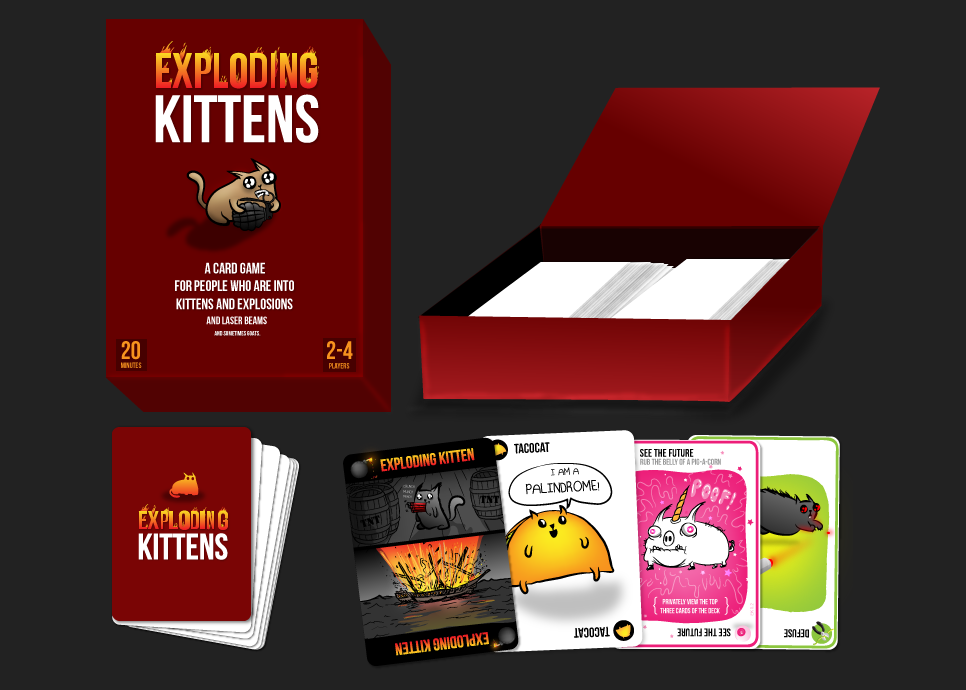 Exploding Kittens Card Game The Coolector