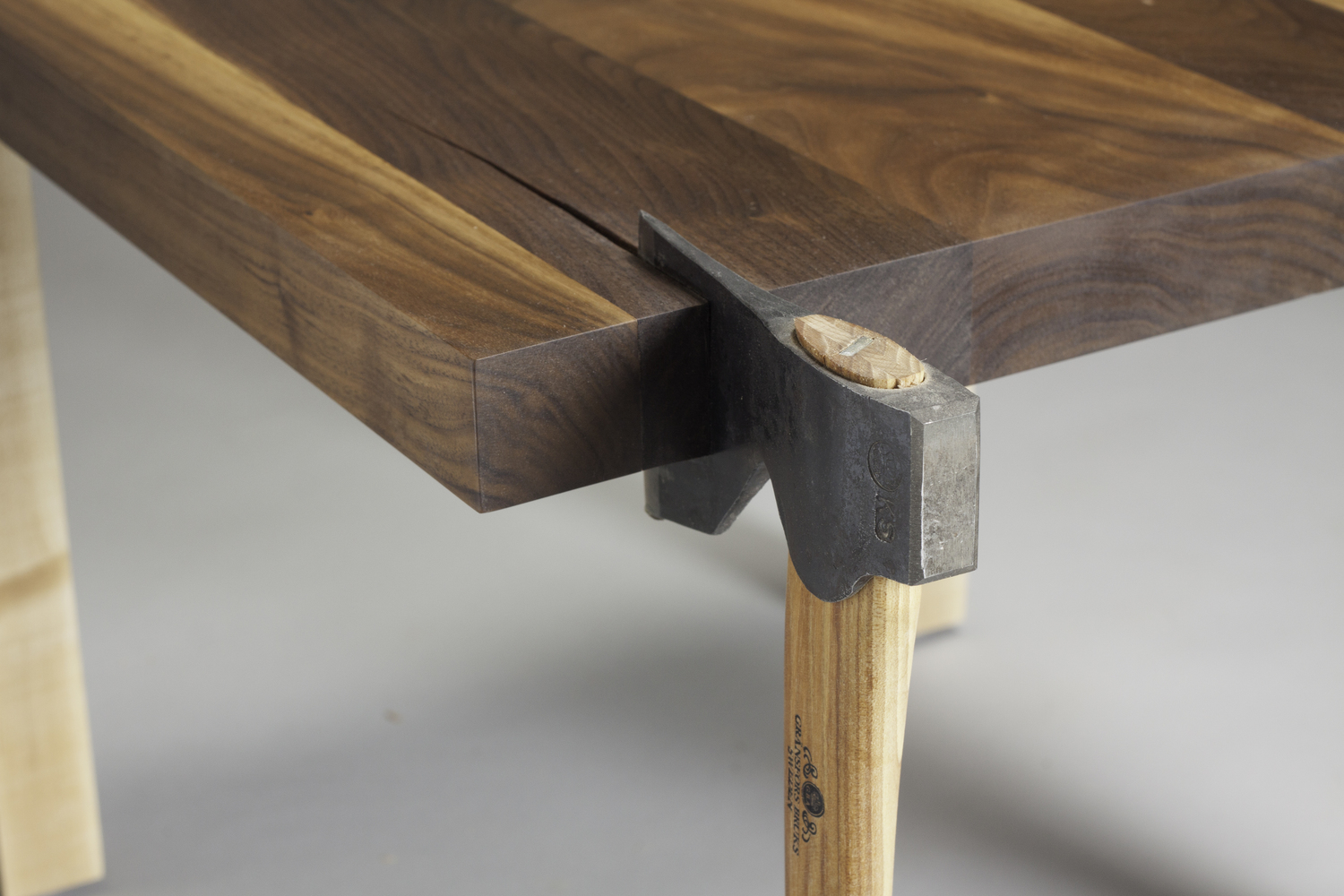 Each Piece Is Crafted From A Combination Of Black Walnut With Maple Legs  And A Swedish Gränsfors Axe For The Striking Finished Product You See  Before You ...