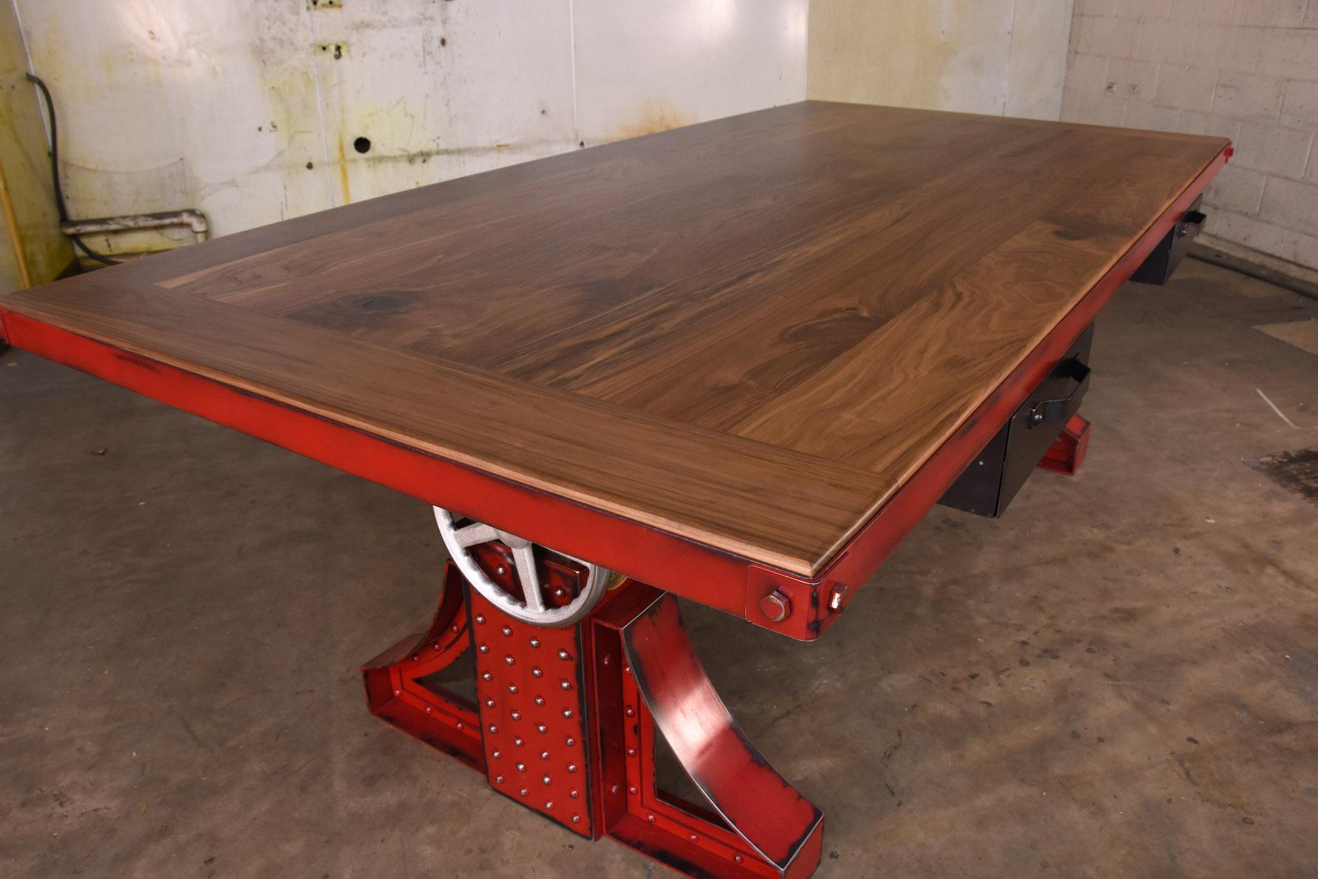 Bronx-Desk-Walnut-Top-Closeup