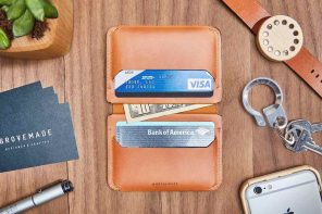 Grovemade Tan Compact Bifold Leather Wallet