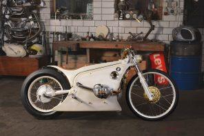 Kingston Customs White Phantom Motorbike