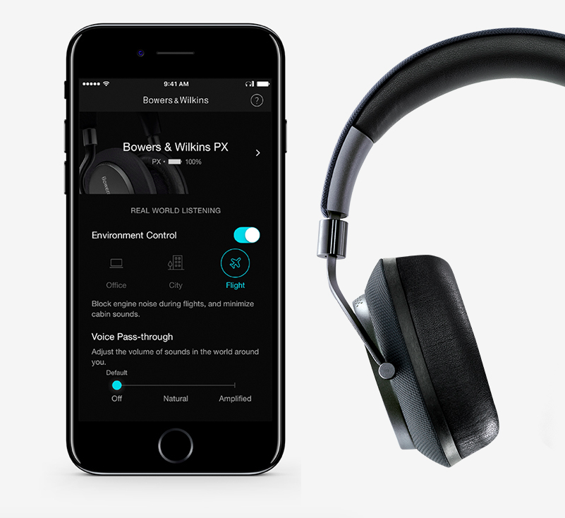 bowers and wilkins px wireless headphones. alongside these great noise cancelling, wireless headphones from bowers \u0026 wilkins, you will get an accompanying app which ramps up their versatility and wilkins px