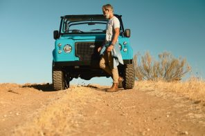 Cool N Vintage Light Blue Land Rover
