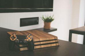 Balolo Playstation 4 Pro Walnut Wood Covers