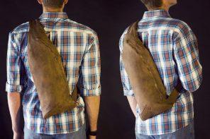 Nisnas Vortex Shadow Leather Bag