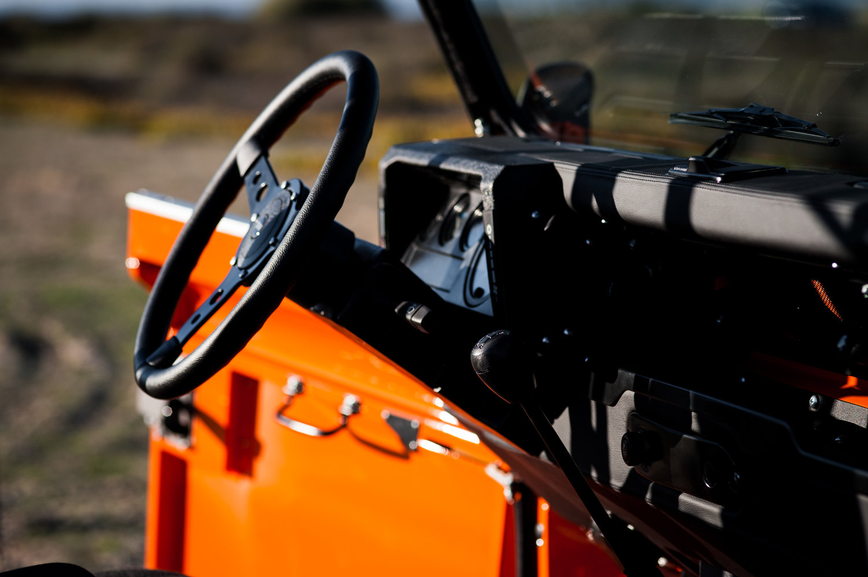 Cool & Vintage Orange Land Rover | The Coolector