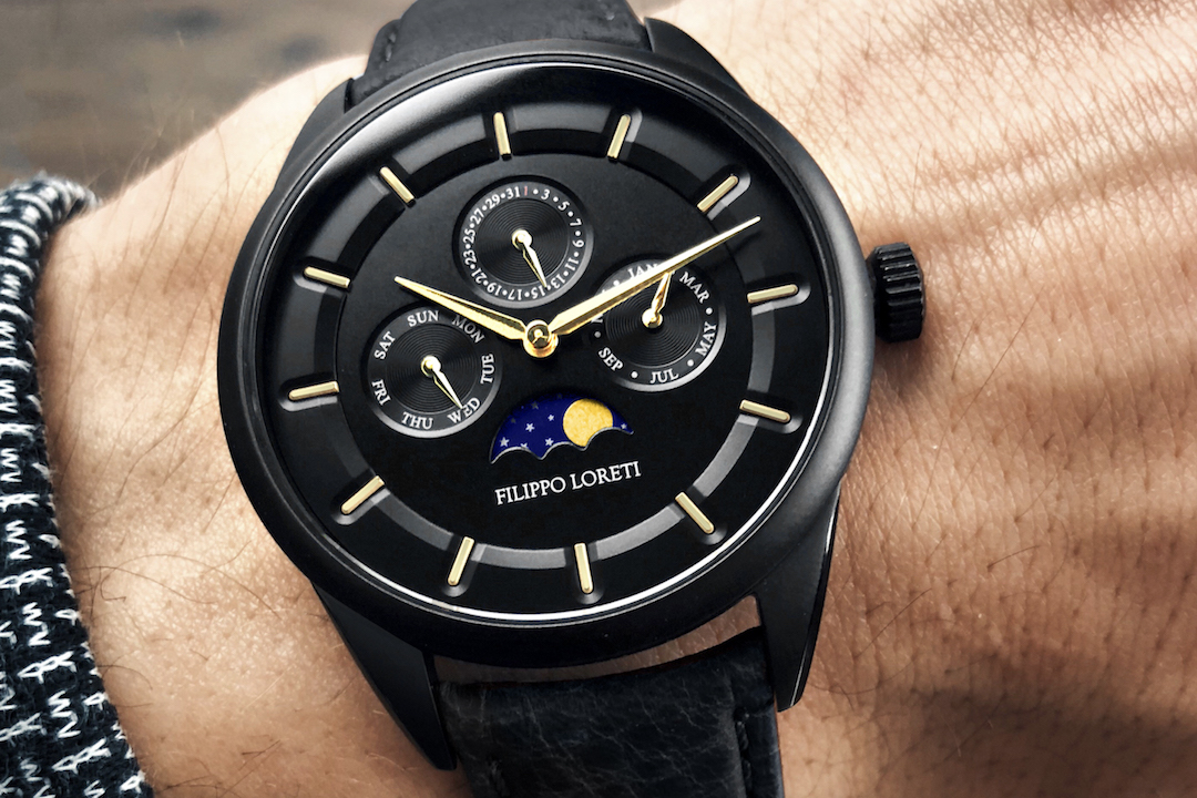 Filippo Loreti Venice Moonphase Black Gold Watch Review