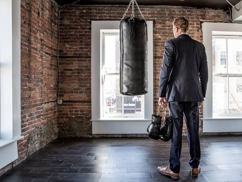 luxury vintage boxing punch bag