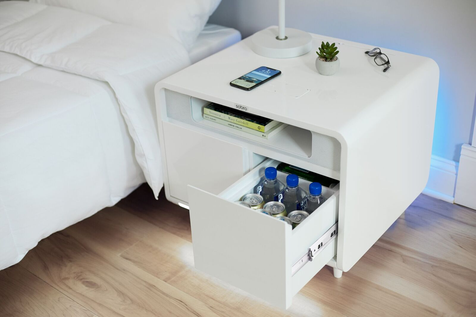 Smart Side Table.Sobro Smart Side Table The Coolector