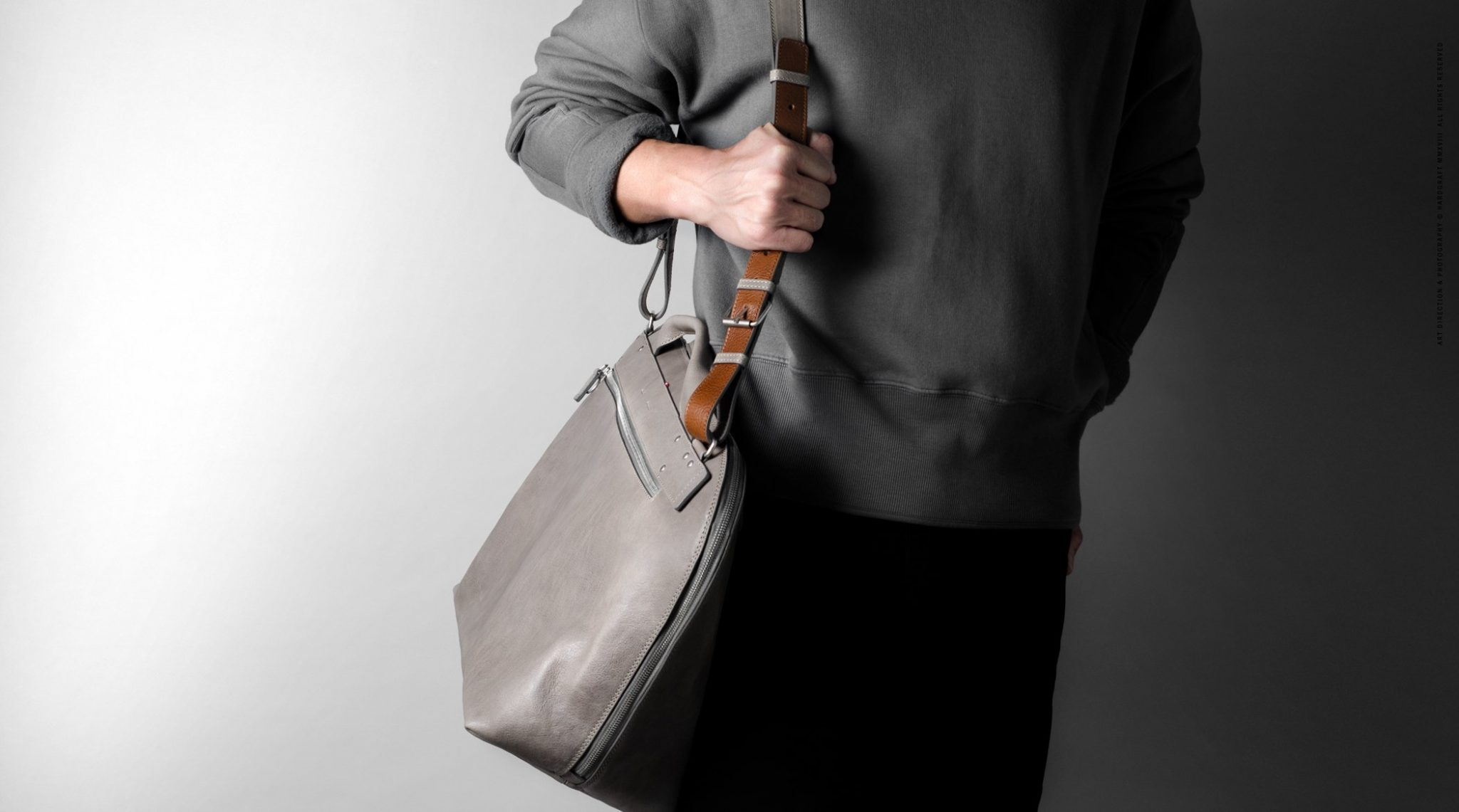 8a901f232f The Hard Graft Collected Shoulder Bag is another aesthetic masterclass and
