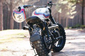 Gasoline Motor Co x Sailor Jerry Custom Triumph Scrambler