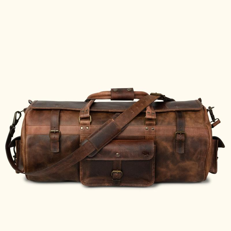 Buffalo Jackson Roosevelt Leather Travel Duffle Bag The