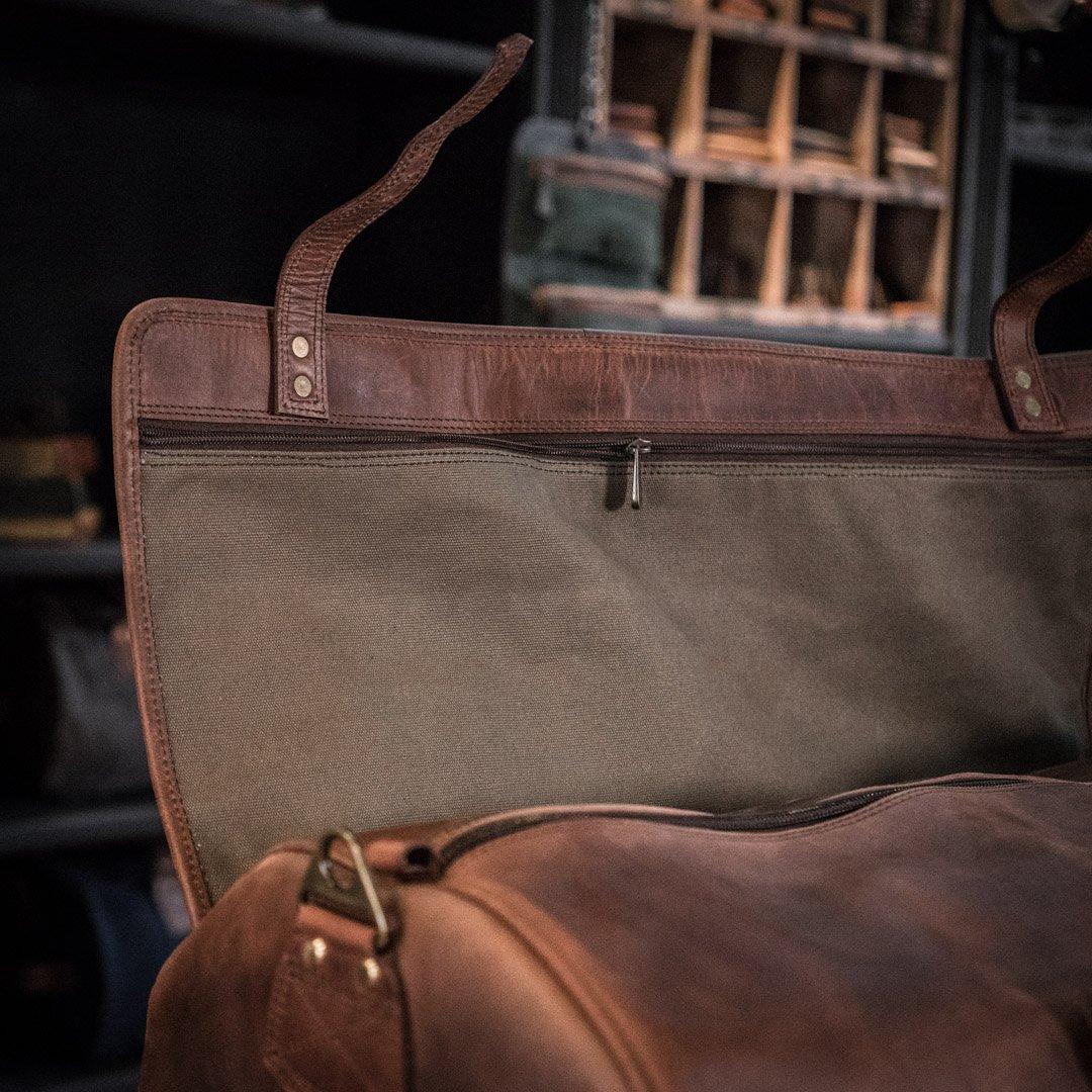 Buffalo Jackson Roosevelt Leather Travel Duffle Bag The