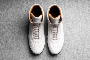Hard Graft Old School Sneakers in Chalk White
