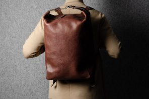 Hard Graft Belted Backpack in Chestnut
