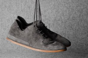 Hard Graft Pure Suede Shoes in Grey