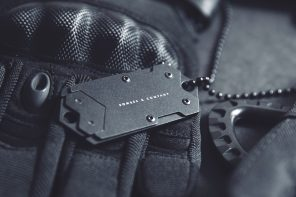 B-2 Dog Tag Concealed Nano Blade Pocket Knife