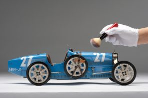 Amalgam Bugatti Type 35T 1926 Targa Florio Winner Race Weathered Model