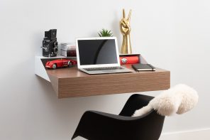 Orange 22 Modern Hideaway Wall Shelf and Desk