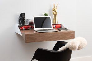 Orange 22 Modern Hideaway Wall Shelf and Desk