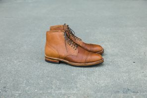 Viberg Service Boot in Snuff Shrunken Kudu