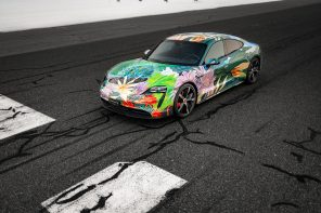 2020 Porsche Taycan 4S Artcar by Richard Phillips